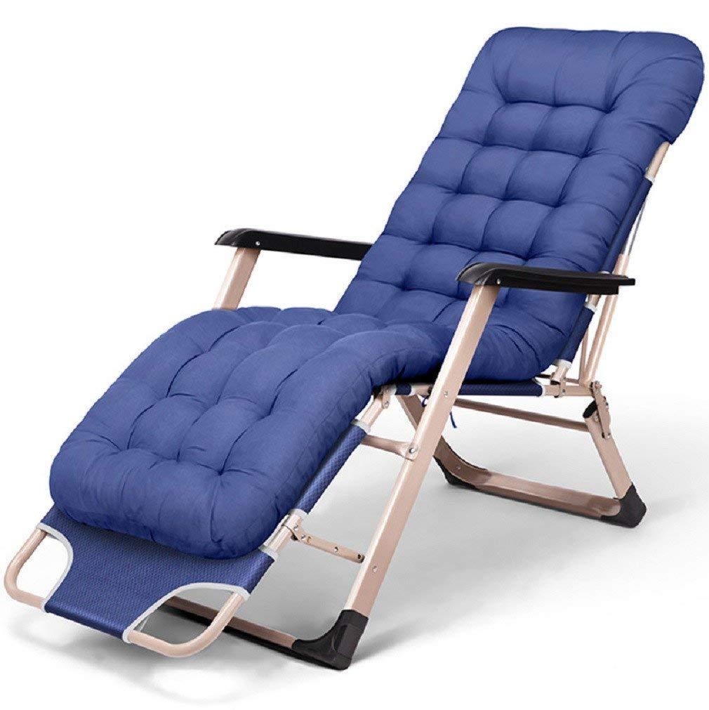 ZLJTYN Zero Gravity Chair Folding Sun Lounger Folding Bed, Single Bed, Lunch Lounge Chair, Camp Bed, Folding Bed, Accompanying Bed, Nap Bed Office Lunch Break, Cot , 1 PACK