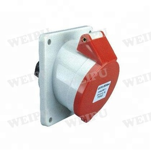 TYP3601 3618 3623 3801 16-32A Angled panel mounted socket 20 amps industrial socket