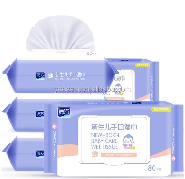 100% Purfied Acqua Naturale Salviette Per Neonati Cina Biodegradabile e Organico sensibile Salviette Per Neonati