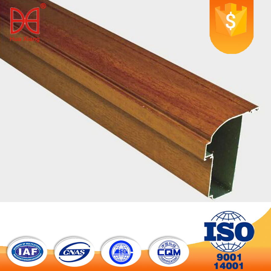 wooden grain Aluminum Extrusion Profiles with factory price
