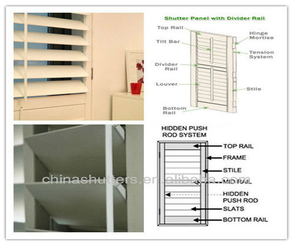 Window Shutters Accessories Component Shutter Parts Rear Louver Control