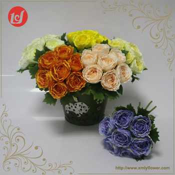 Sfb31015 beautiful artificial fresh colored silk flower arrangements sfb31015 beautiful artificial fresh colored silk flower arrangements bundle with seven flowers heads mightylinksfo