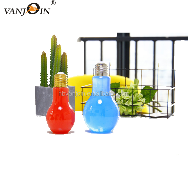 Translucent yellow orange lamp bulb shape continuous water dispenser plastic pump spray