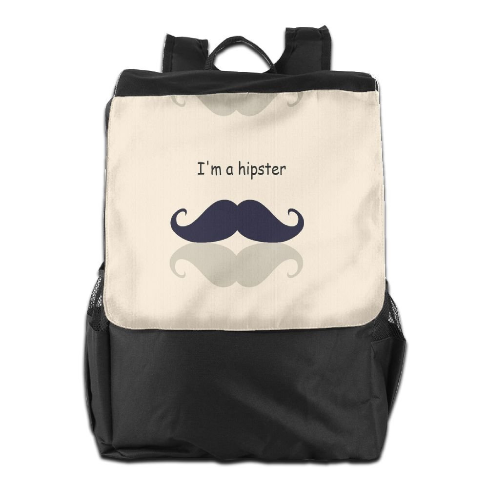 Get Quotations · Tie Dyed Mustache Hipster Outdoor Backpack Rucksack Travel  Bag 2e3ff02dfcc92