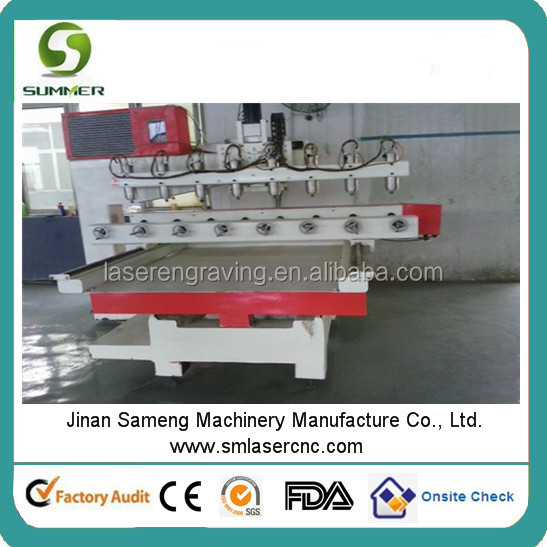 SM1315 eight heads cnc router 1325 hot seller machine with 3d scanner