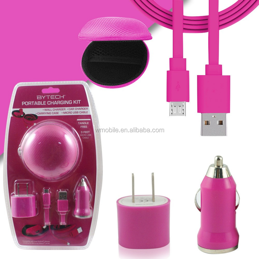 Multi Function Universal Charger Combo Kit 3 In 1 Mobile Charger Kit