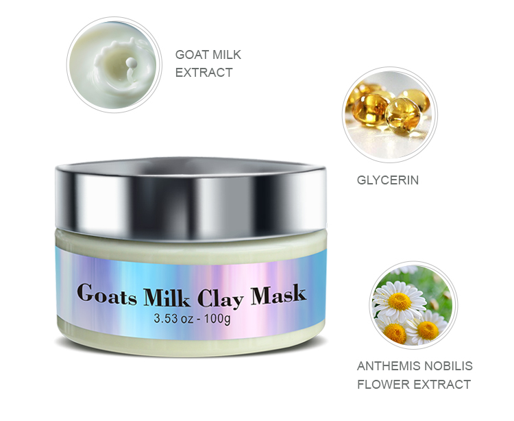 Private label dead sea mud face lifting goats clay mask