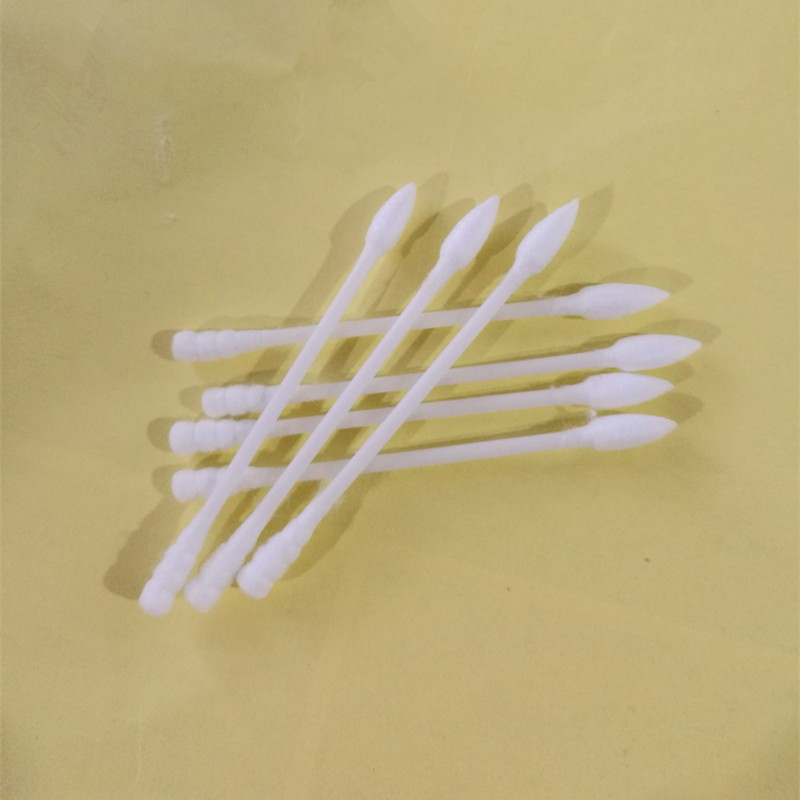 200PCS Plastic Stick Sharp And Spiral End Ear Cleaning Cotton Swabs Buds In PP Round Box