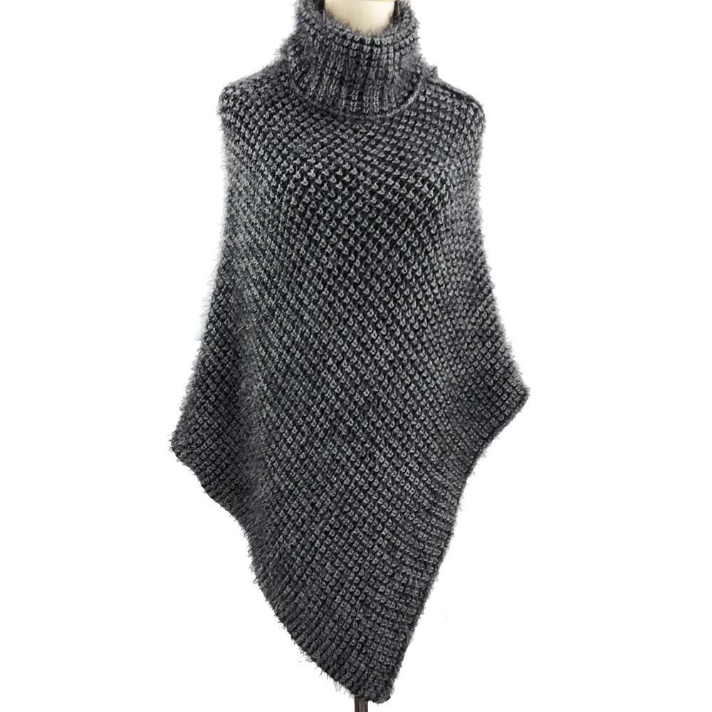 New Style Very Soft Acrylic Knitted Scarf Pashmina Poncho