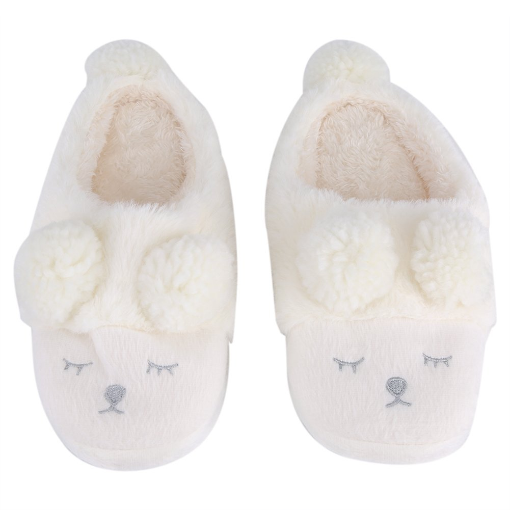 50d7ef9b751c Get Quotations · Winter Warm Short Plush Indoor Slippers Cute Cartoon Sheep  Lamb Soft Indoor Home Wear Slippers House