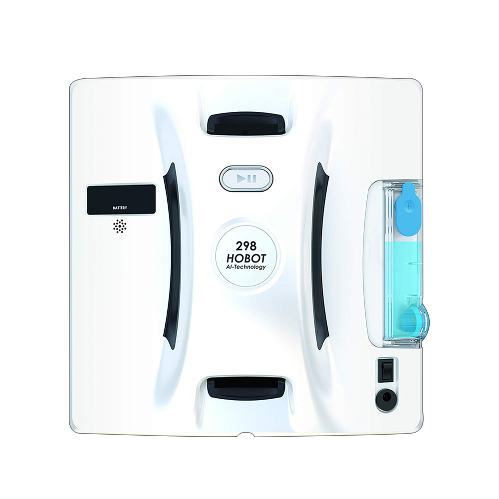 HOBOT 298 Square Vacuum Windows <strong>Cleaner</strong> with Water Sprayer Auto Cleaning AI S2.1 Technology Smart Phone Control for Home Robot