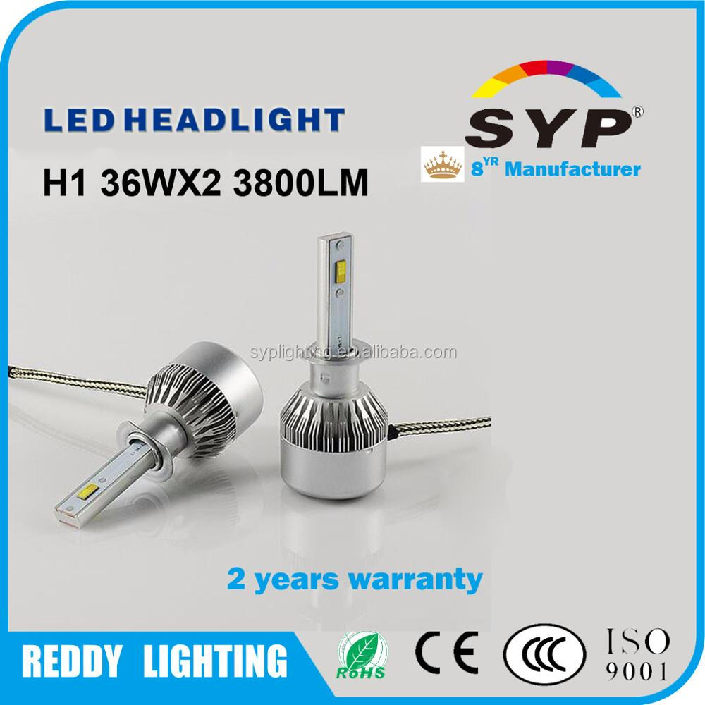 SYP Most powerful LED Light Manufacturer 40w-80w 48w-96w bulbs H1 12v 24v H7 hb4 hb3 h16 9008 h1 h3 h11 h4 factory led headlamp