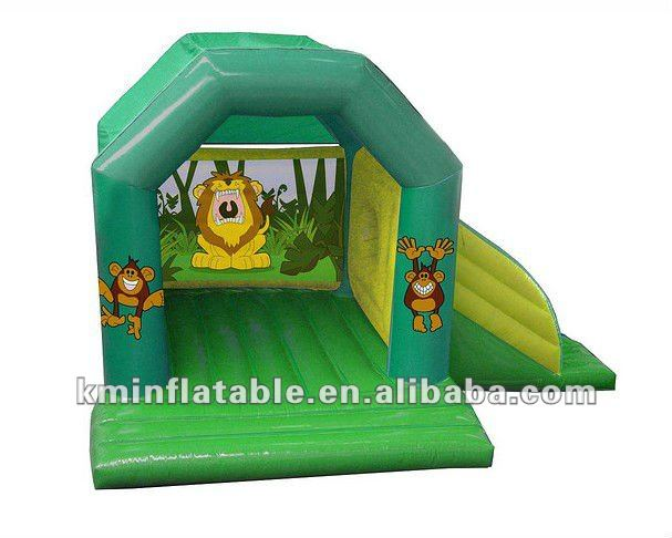 inflatable jumper and slide bouncer jungle lion monkey