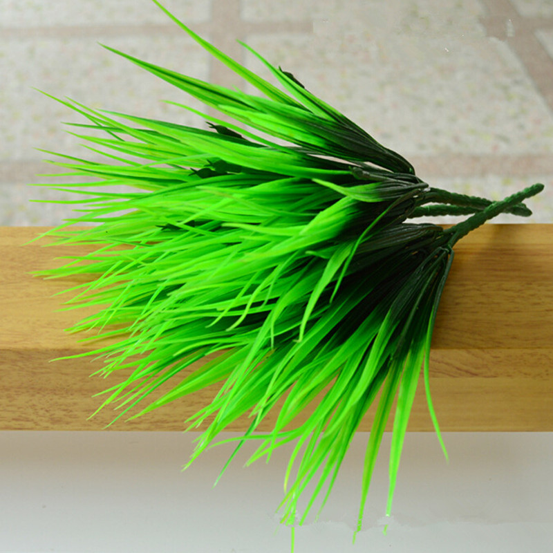 Brick artificial grass plastic grass artificial plants decoration flower 7 fork love grass 36cm length