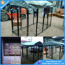 high quality metal cheap chain link dog kennels / large wire mesh dog pen