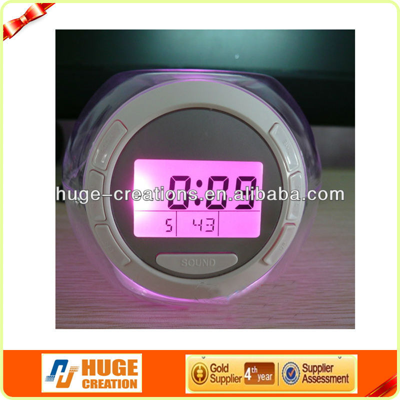 Natural Sound 7 Colors Alarm Clock wholesale alibaba