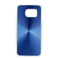 Simple style aluminum plate cover,transparent edge CD pattern phone case for Samsung S7