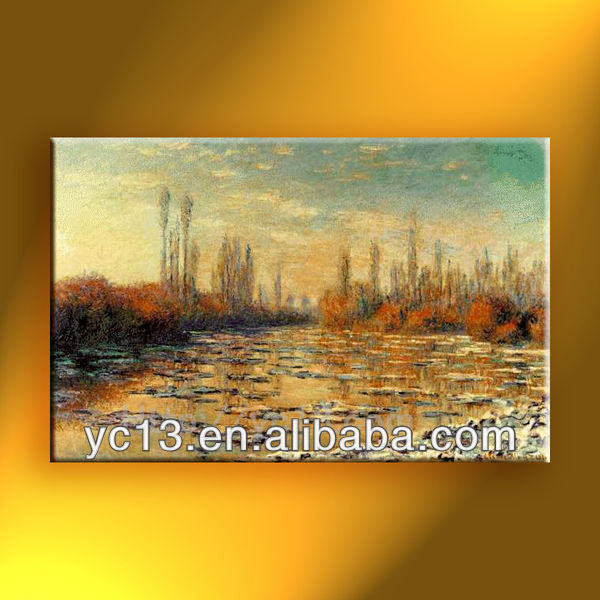 Oil painting reproduction on canvas,famous artist monet 10