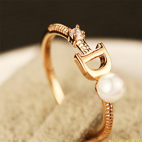 Latest Design Customer 18k Gold Alphabet Finger Ring Buy