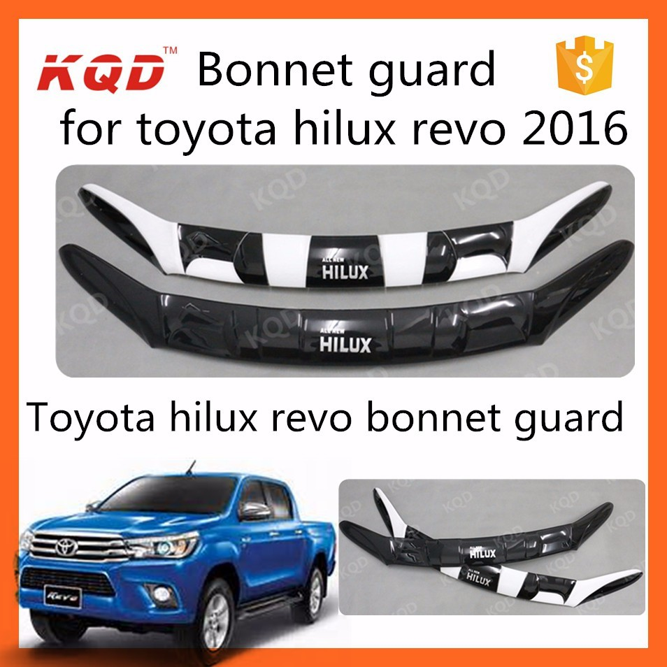 New arrival black bonnet guard for toyota hilux revo body parts abs bonnet guard hood guard
