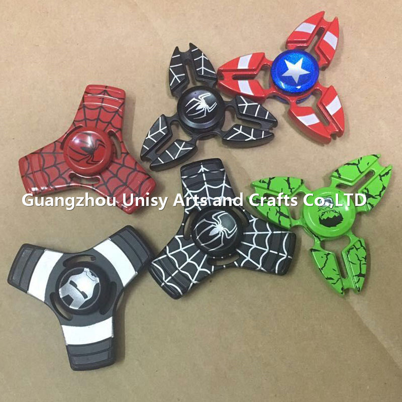 New hot Captain America Hand Spinner Spider Man superman Can turn for 3-4 minutes