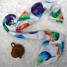 custom-made silk scarf digital printed silk scarf in china