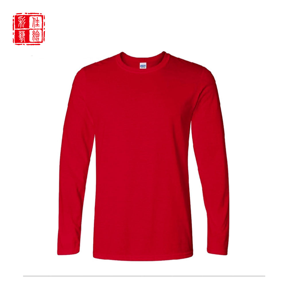 Wholesale custom long sleeve o-neck organic cotton men's long sleeve t shirt blank