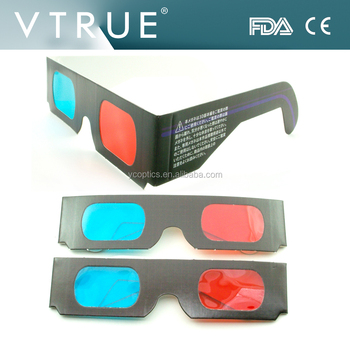 2dcc5f04047 Custom printing paper carton Anaglyph 3d glasses as a promotional gifts