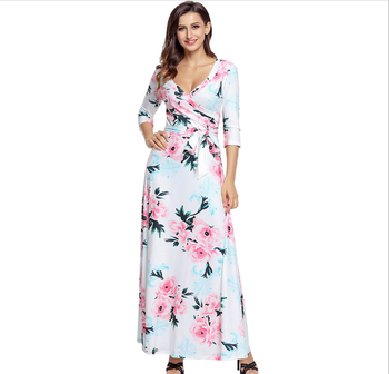 European Plus Size Women Clothing Long Sleeve Autumn Dress Adult Birthday  Party Floral Long Maxi Dress - Buy Plus Size Bohemian Maxi Dresses,Casual  ...
