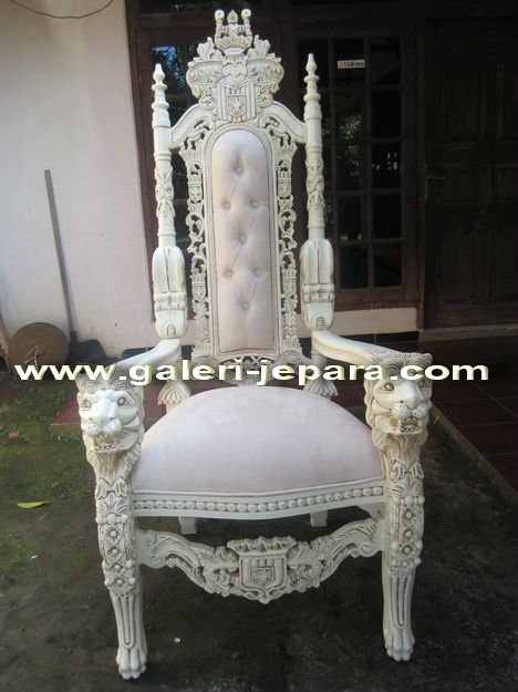 Antique Mahogany Lion King Chairs - Indoor Furniture - Antique Bedroom Furniture