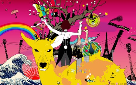 anime colorful original characters <font><b>Asian</b></font> Kung-Fu Generation music album covers <font><b>Home</b></font> <font><b>Decoration</b></font> Canvas Poster