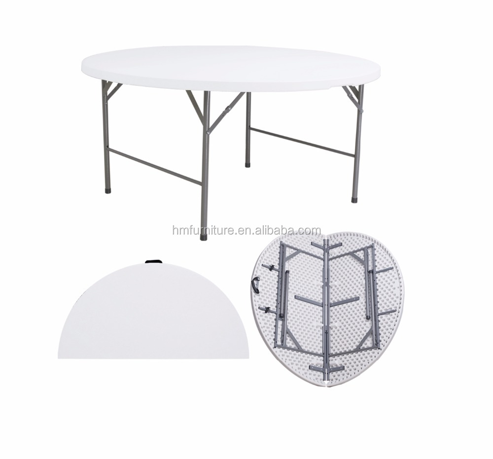 5ft Round Folding In Half Table Dining Table Round Round Folding