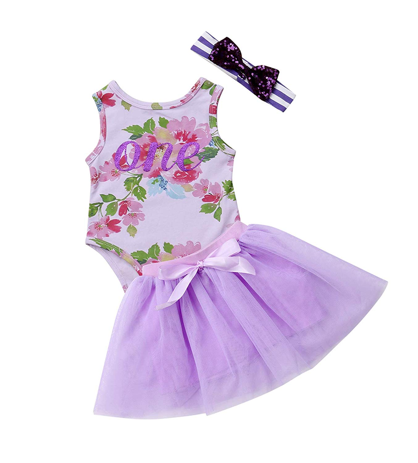 66b764da67eff Urkutoba Purple Floral Vest Tops+Purple Lace Tulle Tunic Tutu Dress+Sequins  Headband 3pcs · Summer Style 2015 Women Shirts Long Sleeve Purple White  Chiffon ...