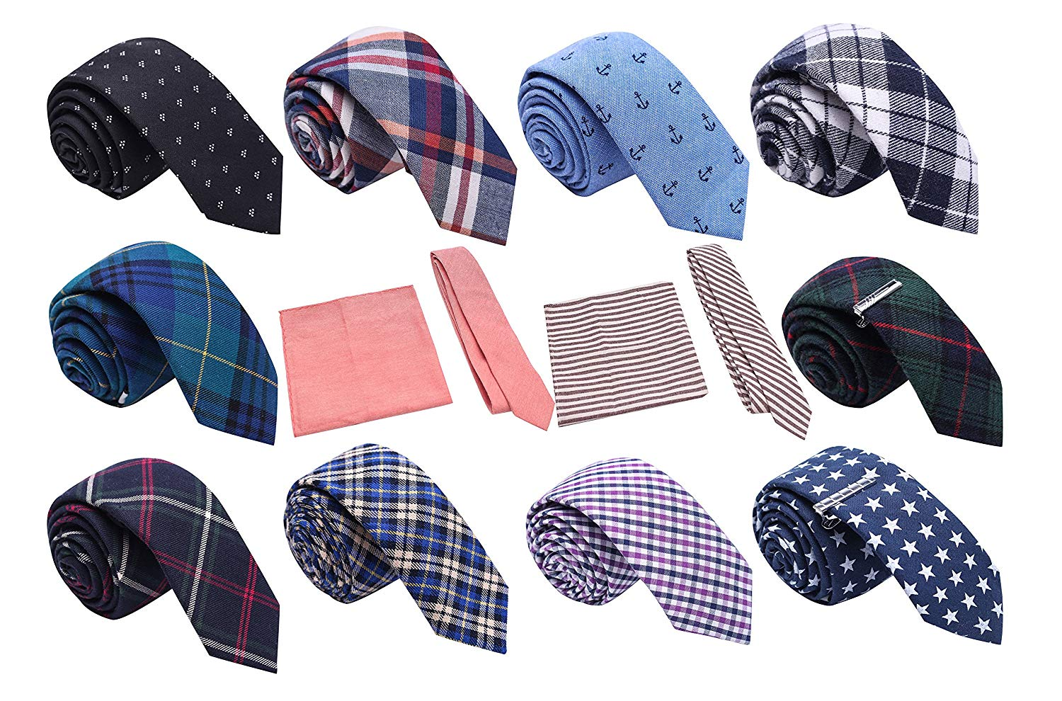 4dfd4442815a Get Quotations · Skinny Tie Madness Fashion Forward Bundle of 12, 2