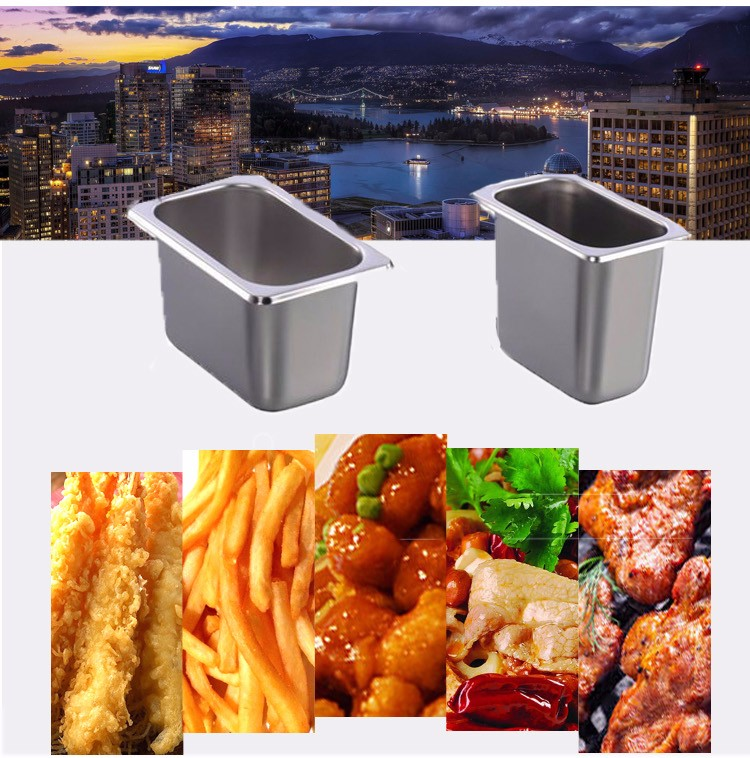 OWNFIT Anti Jam Pan America Style 1/3 Stainless Steel Food Pan For Buffer Restaurant