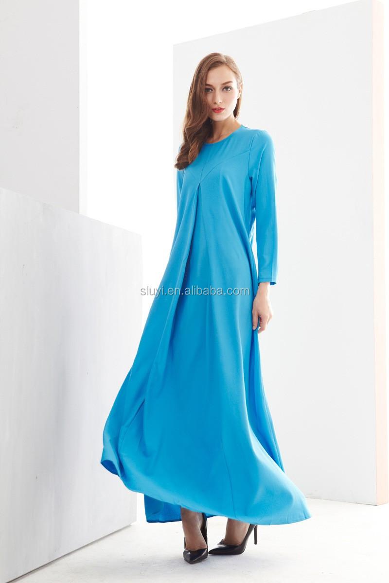 Muslim Women Tunic Female Casual Long Sleeve Sheath Dress Long ...