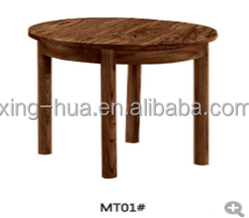 Rustic Design Ash Wood Round Tea Table