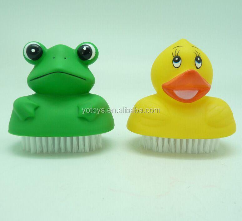 Plastic Animal- Shaped Frog Nail Cleaning Tool Cute Nail Brush - Buy ...