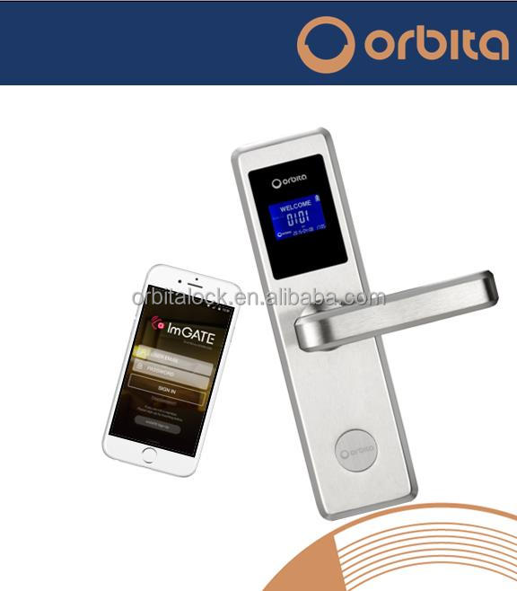Orbita mobile phone bluetooth smart hotel door lock high security lock electronic hotel lock
