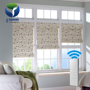 Yaohang Remote Control Electric Shades Blinds System Roman Blind Kit