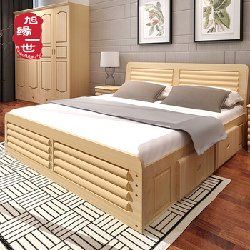 Latest Bedroom Furniture Double Bed Designs In Wood King Size Luxury Wood Bed Frame Buy Double