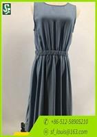 OEM Fashion design denim dress girls sleeveless long dress