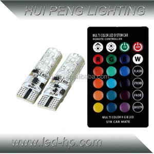 Car Part Remote Control RGB T10 LED Bulb