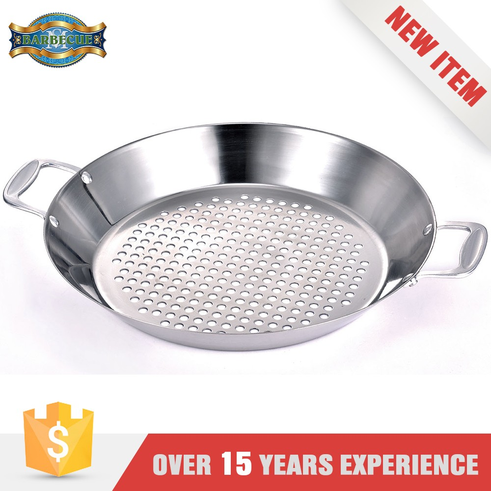 Outdoor And Indoor Barbecue Or Cooking Vegetable Stainless Steel Bbq Deep Dish Grill Topper