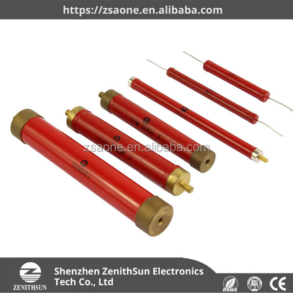 Glazed Red High Voltage Wirewound Resistor Used For High Voltage Circuit
