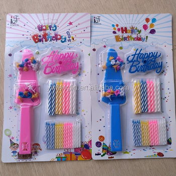 Birthday Candle Set With Plastic Card And Knife