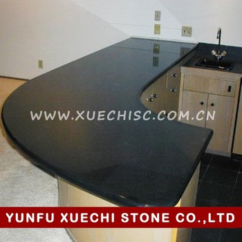 Black Granite Slab For Kitchen Counter Top,prefabricated Granite Countertops  Factory