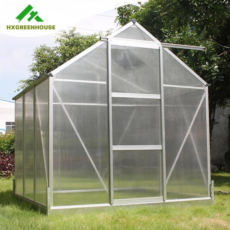 Outdoor Polycarbonaat Aluminium Frame Kleine Tuin Kas Voor Bloem ...