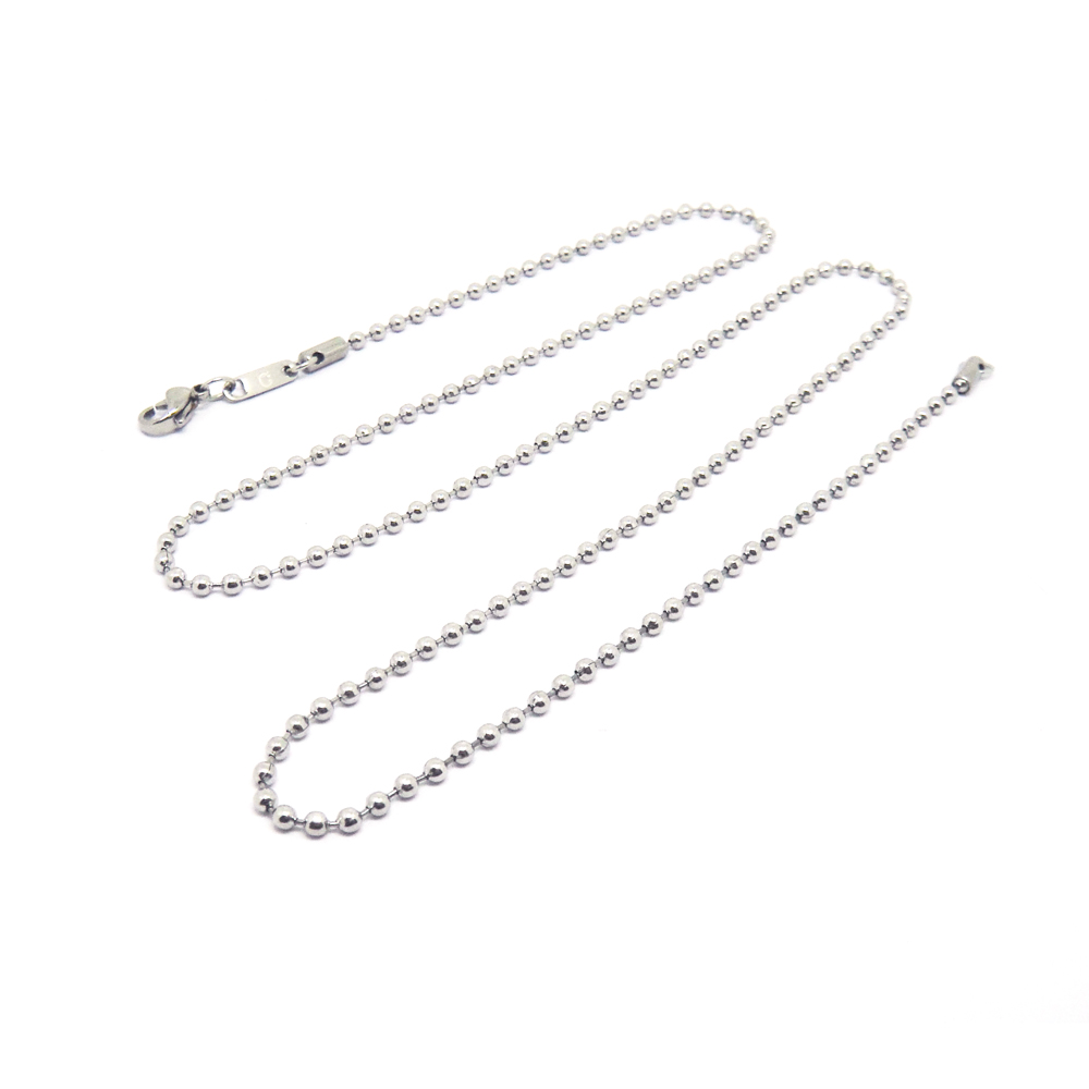 Wholesale high quality stainless steel 60cm ball chain necklace