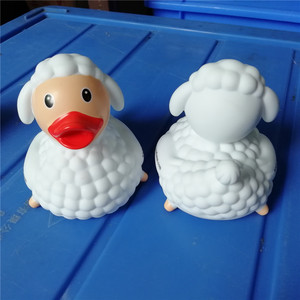 3d floating sheep duck rubber bath duck toy for promotion